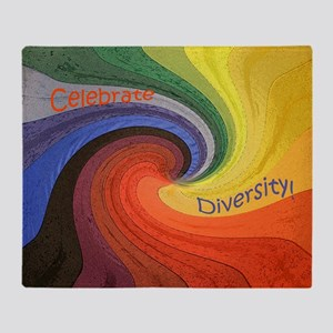 Diversity square Throw Blanket