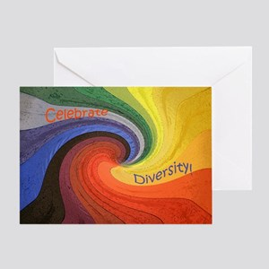 Diversity square Greeting Card