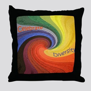 Diversity square Throw Pillow