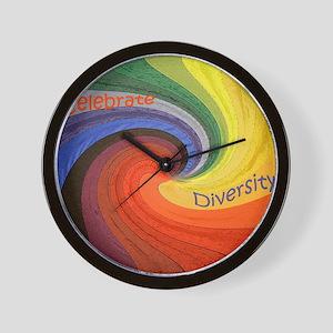 Diversity square Wall Clock