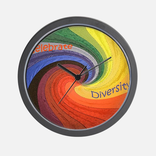Diversity square Wall Clock