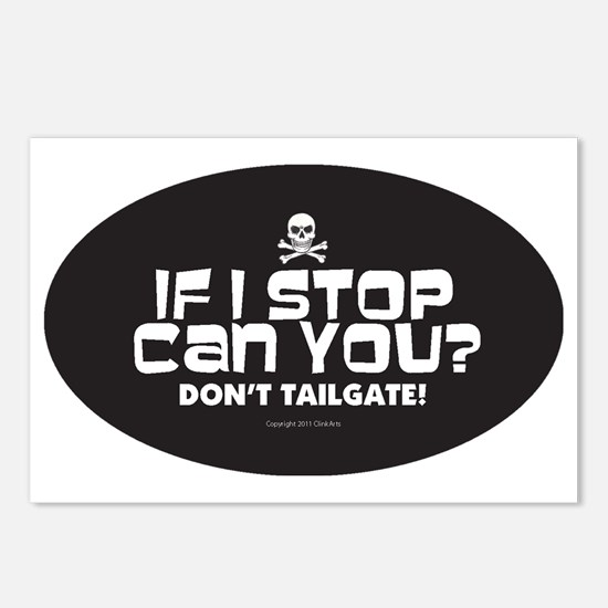 Anti-Tailgating Sticker Postcards (Package of 8)