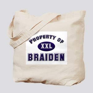 Property of braiden Tote Bag