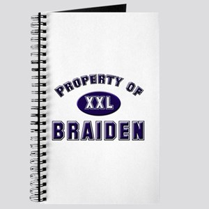 Property of braiden Journal