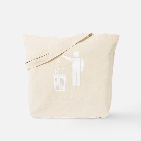 litterthink2dark Tote Bag