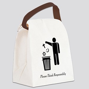 litterthink2 Canvas Lunch Bag