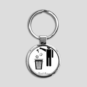 litterthink2 Round Keychain