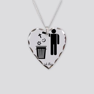 litterthink2 Necklace Heart Charm