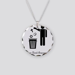 litterthink2 Necklace Circle Charm