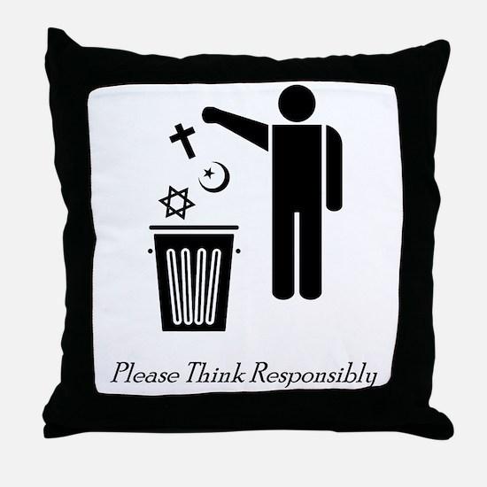 litterthink2 Throw Pillow