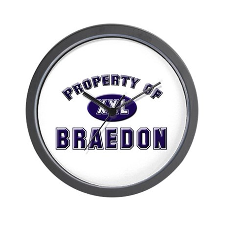 Property of braedon Wall Clock