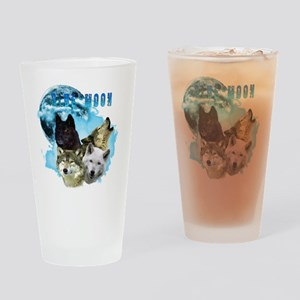 Blue Moon Wolves Drinking Glass