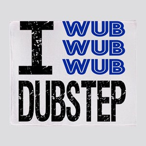 WUB DUBSTEP_blue Throw Blanket