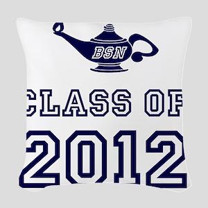 CO2012 BSN Navy Woven Throw Pillow