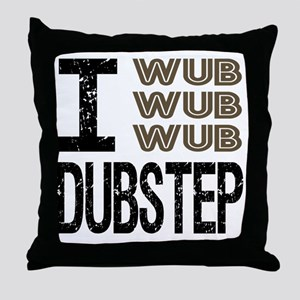 WUB DUBSTEP_brown Throw Pillow