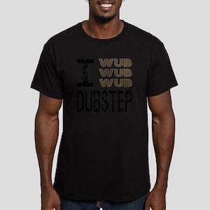 WUB DUBSTEP_brown Men's Fitted T-Shirt (dark)
