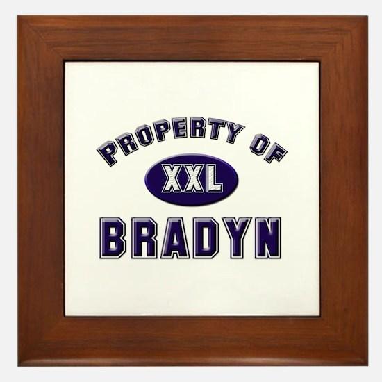 Property of bradyn Framed Tile