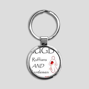 Rugby Ruffians and Gentlemen 1500 Round Keychain