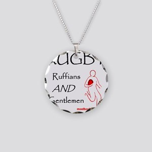 Rugby Ruffians and Gentlemen Necklace Circle Charm