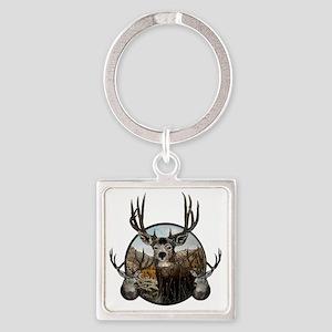 mule deer oil painting Square Keychain