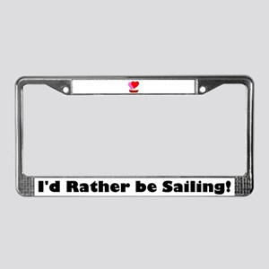 Sail Boat Love License Plate Frame