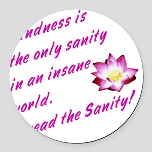 kindness1 Round Car Magnet