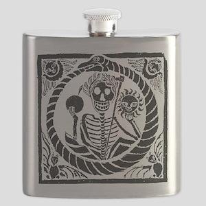 USESkeleton and snake square USE1 Flask
