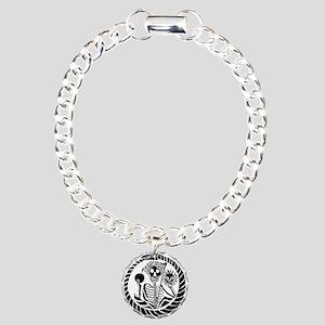 USESkeleton and snake sq Charm Bracelet, One Charm