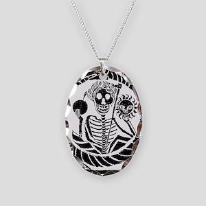 USESkeleton and snake square U Necklace Oval Charm