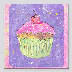 "cuppy cake Square Car Magnet 3"" x 3"""