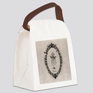 cage_robe_libellule_carre_1_lore_ Canvas Lunch Bag