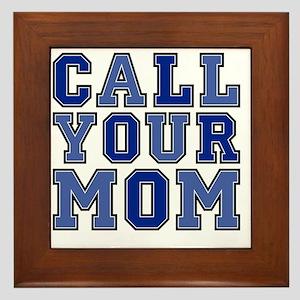 call your mom pillow Framed Tile