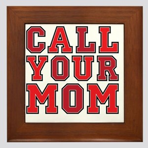 call your mom pillow Framed Tile