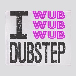 WUB DUBSTEP_pink_grey Throw Blanket