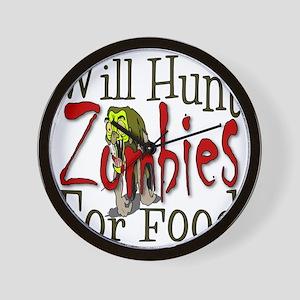 Will Hunt Zombies Wall Clock