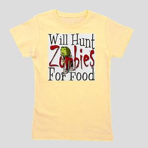 Will Hunt Zombies Girl's Tee