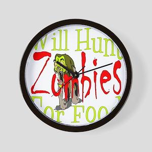 Will Hunt Zombies dark Wall Clock