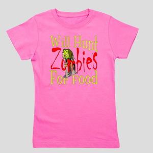 Will Hunt Zombies dark Girl's Tee