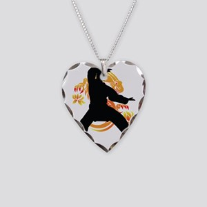 dragon-Fighter Necklace Heart Charm