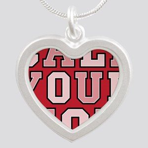 call your mom pillow Silver Heart Necklace