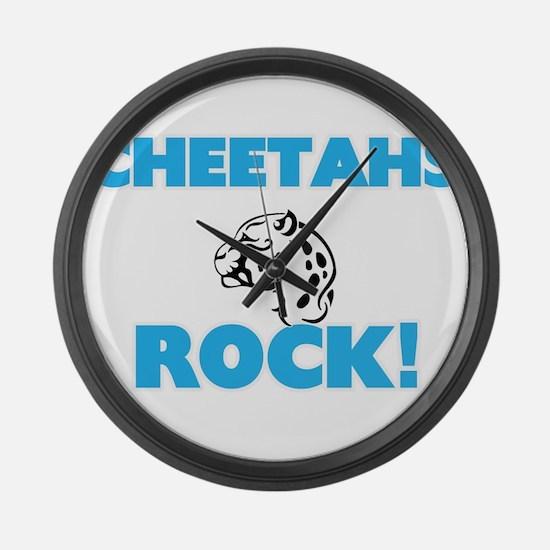 Cheetahs rock! Large Wall Clock