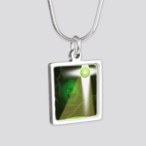 TC Cover Art without autho Silver Square Necklace