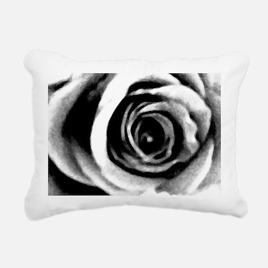 Rose Abstract Rectangular Canvas Pillow