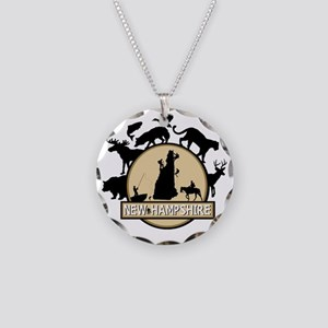 New Hampshire Necklace Circle Charm