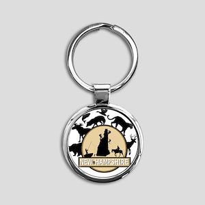 New Hampshire Round Keychain