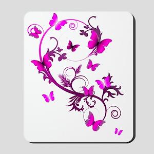 Pink Butterflies Mousepad