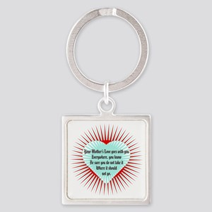 mothers-love-heart1 Square Keychain