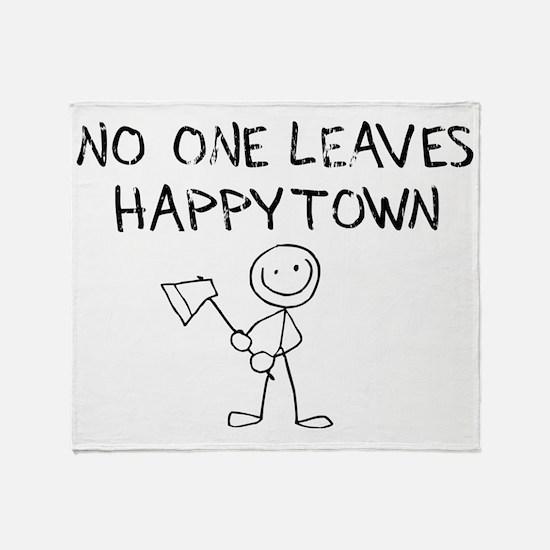sacredo-happytown Throw Blanket