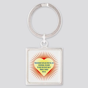 mothers-love-heart2 Square Keychain