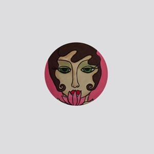 Lotus Blossom Mini Button